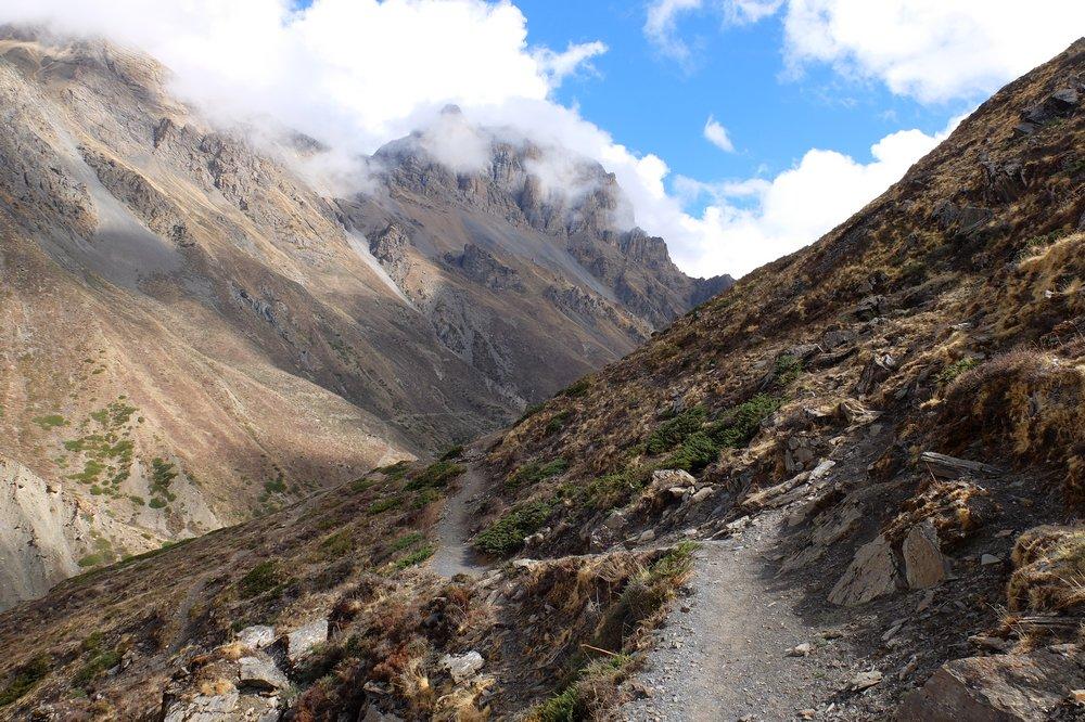 trekking Annapurna circuit trek in Nepal