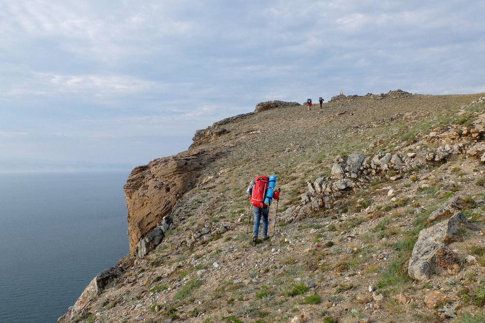 Hiking at Olkhon island - lake Baikal, Russia