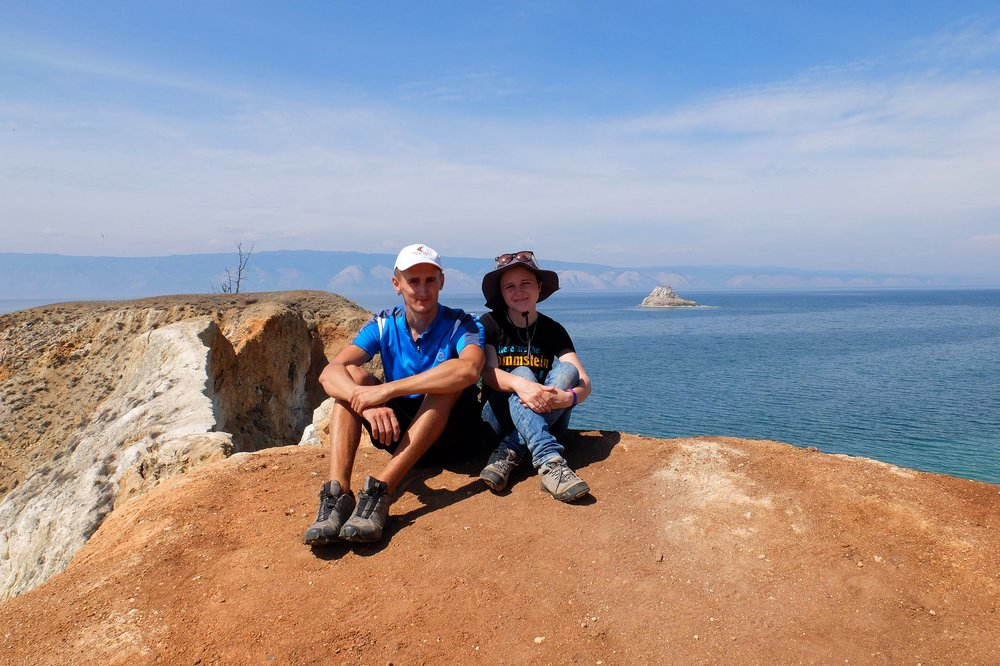 Hiking on Olkhon island - lake Baikal