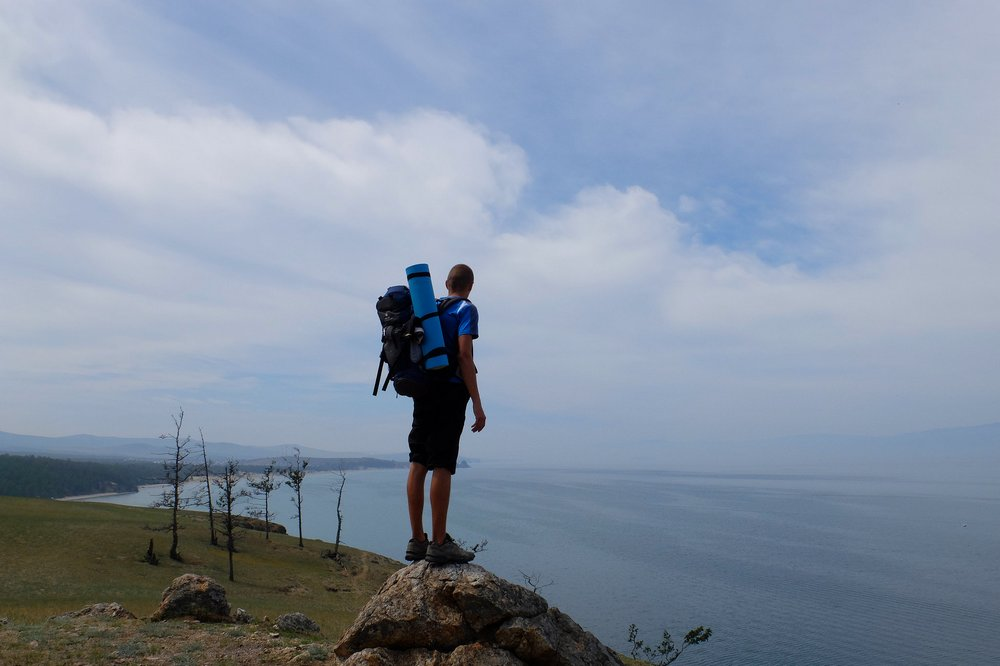 Hiking on Olkhon island
