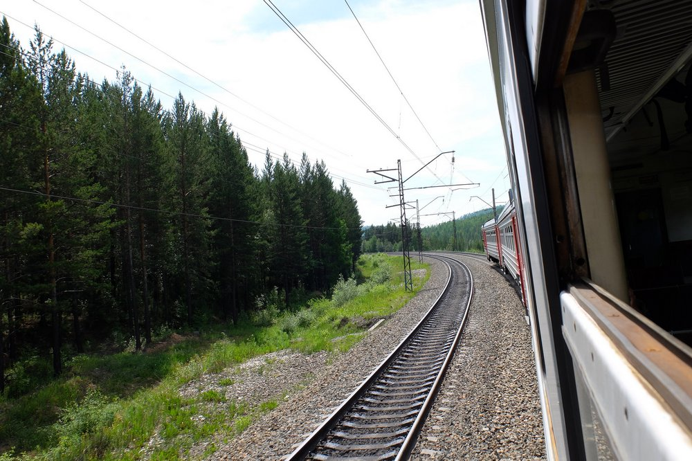 Traveling by train in Russia