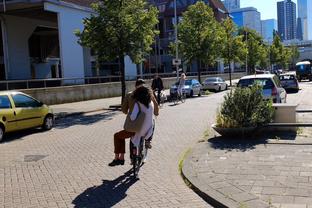 Cyclist in the Netherlands
