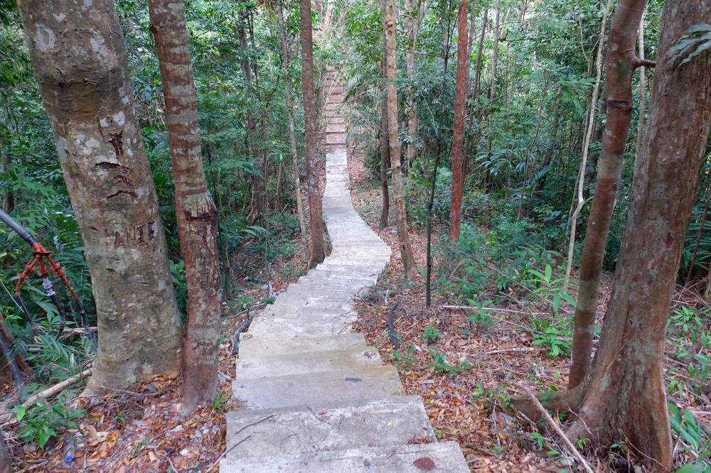 Walking up Gunung Raya hill