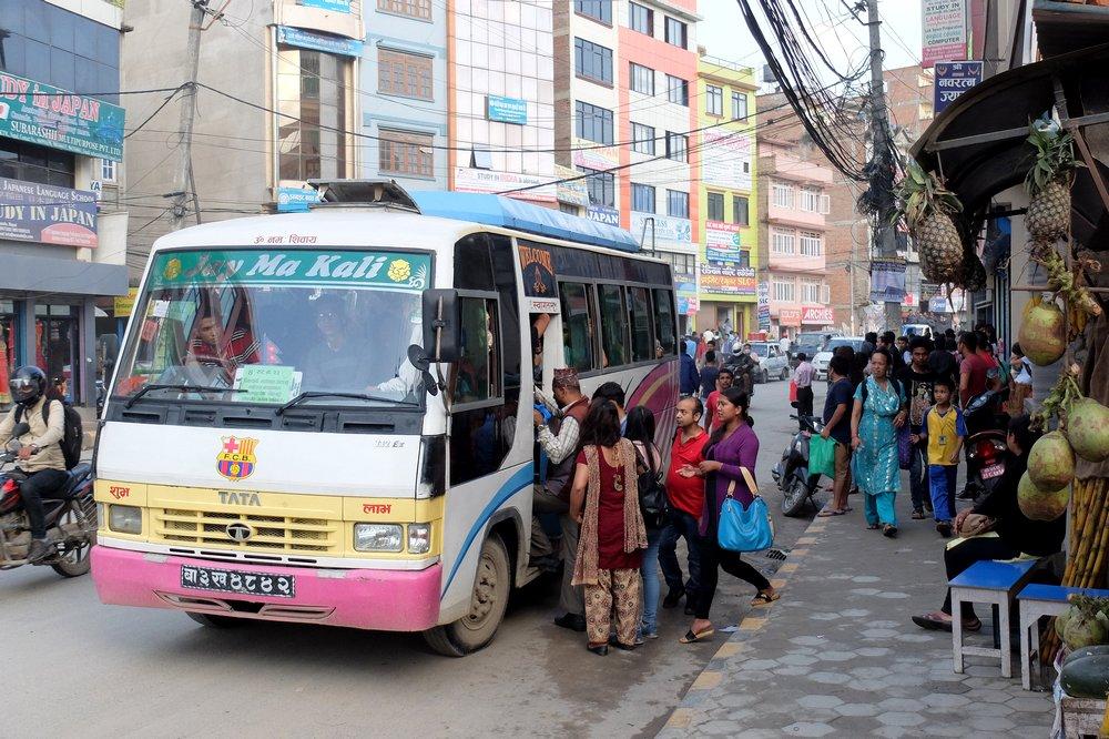 Local bus in Kathmandu, Nepal