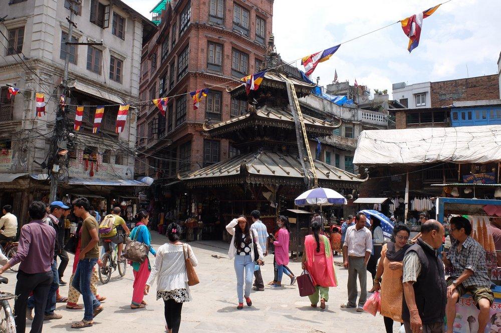 Thamel, central part of Kathmandu