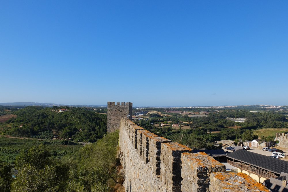 Castle wall in Obidos