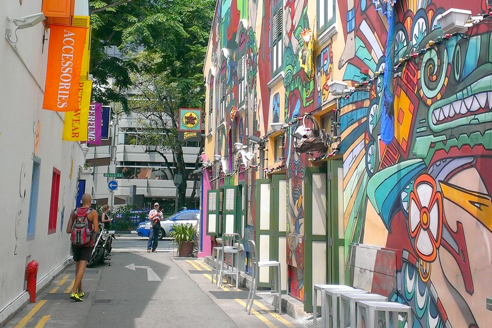 Street art in Kampong Glam, Singapore