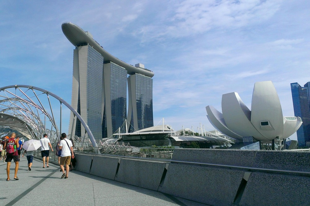 View of Marina Bay Sands Hotel, Singapore