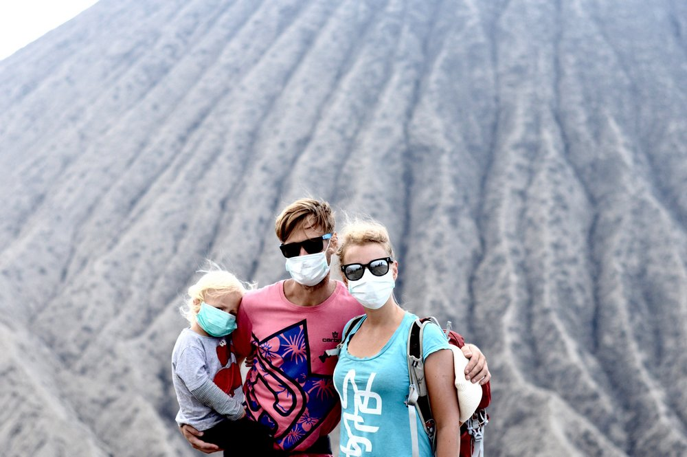 Sanda, Valdas and Hugo in Indonesia - Backpacking With a Toddler