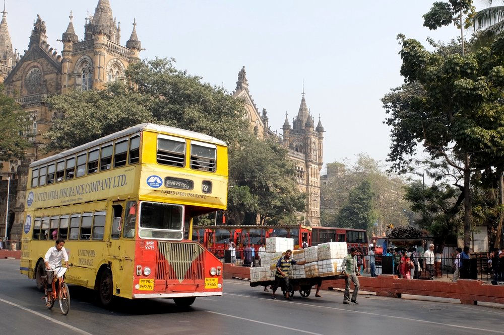 Double decker bus in Mumbai, India