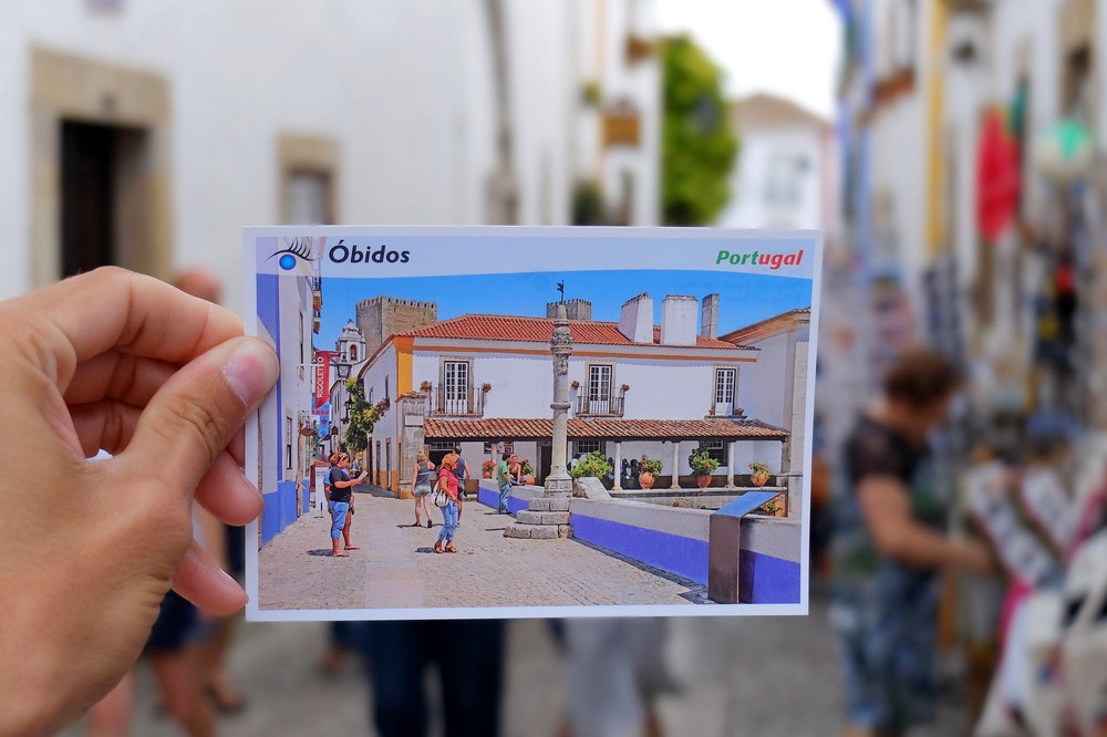 Hello from Obidos - one of the most beautiful medieval towns in Portugal!