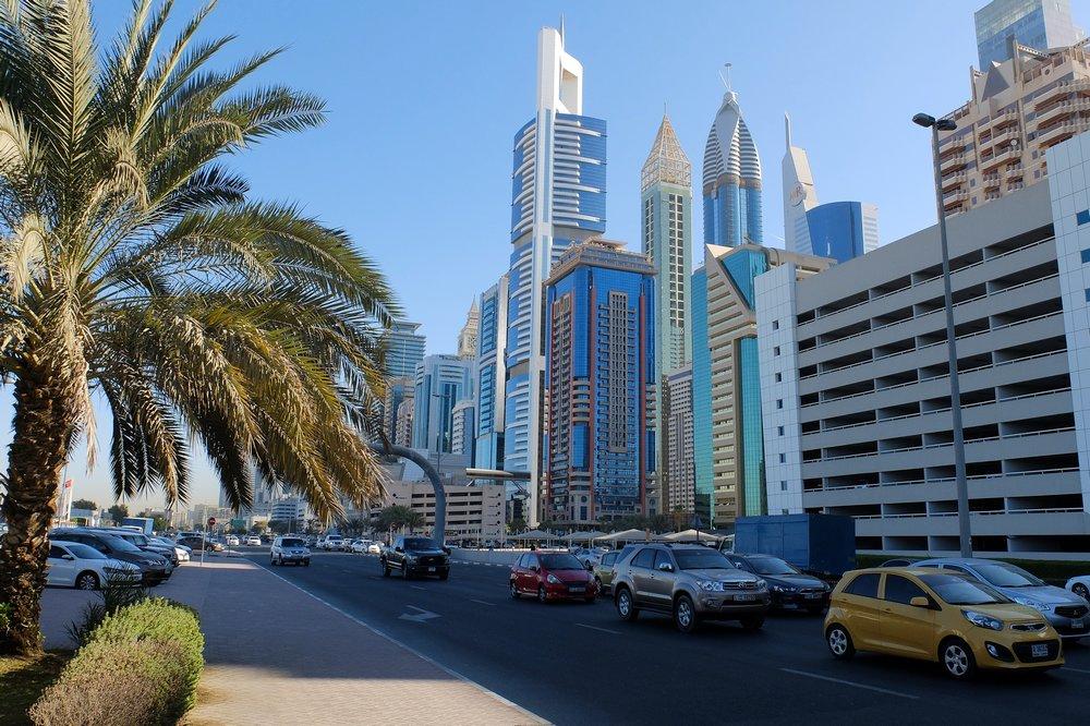 Dubai skyline - Stopover in Dubai