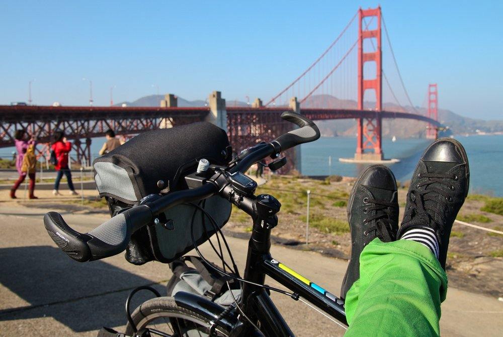 Sanfrancisco - cycling solo adventure is about to start