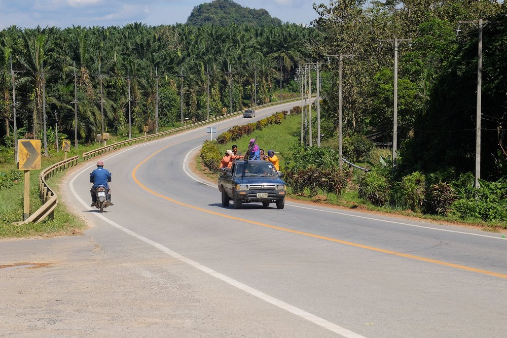 Road in Southern Thailand - Hitchhiking in Thailand