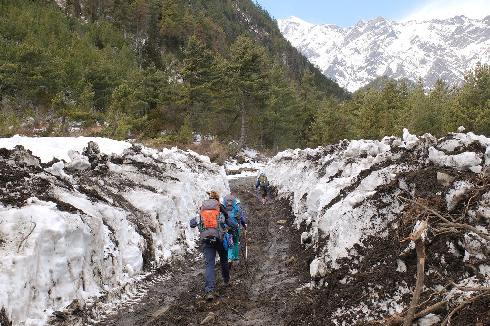 A lot of snow - Annapurna Circuit Trek - Notes from the Hike