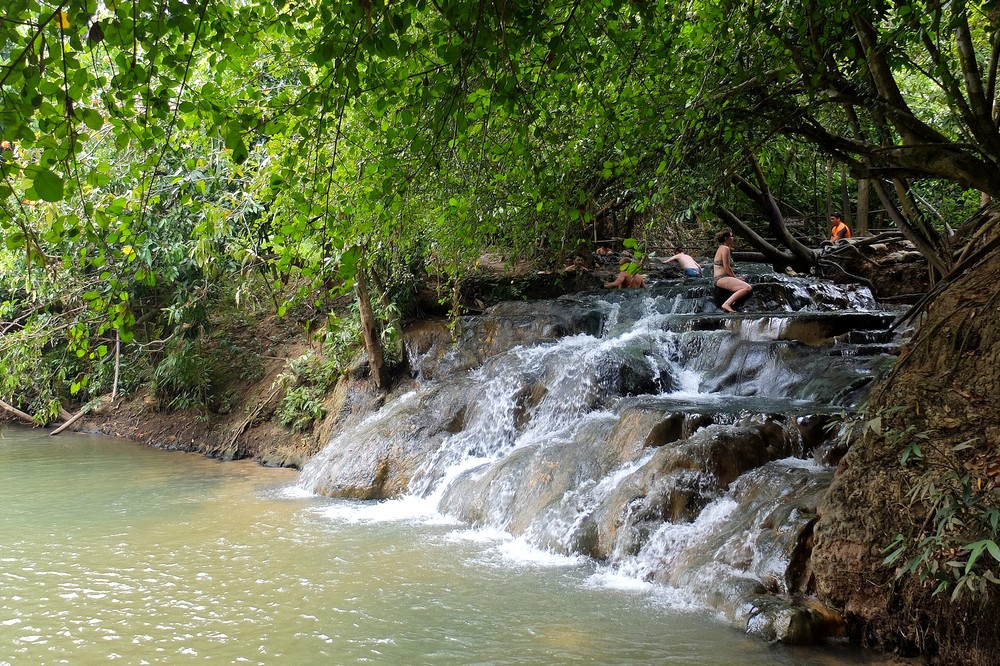 Hot spring waterfall - From Bangkok to Singapore in 2 Weeks