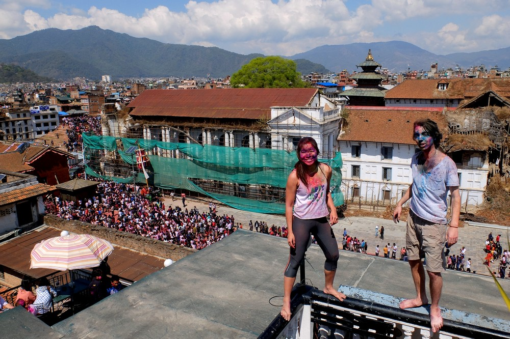 Lunch break photoshoot - Kathmandu - Holi in Nepal