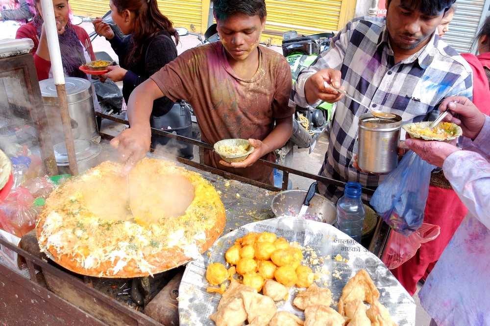 Our second lunch - Kathmandu - Holi in Nepal