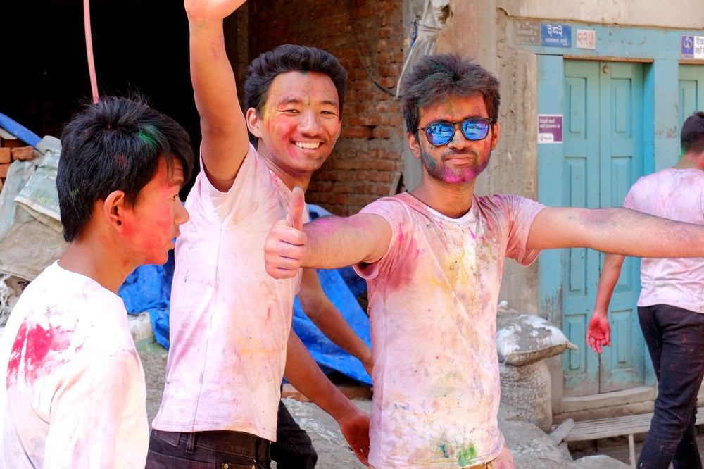 Stylish Indian guy - Kathmandu - Holi in Nepal