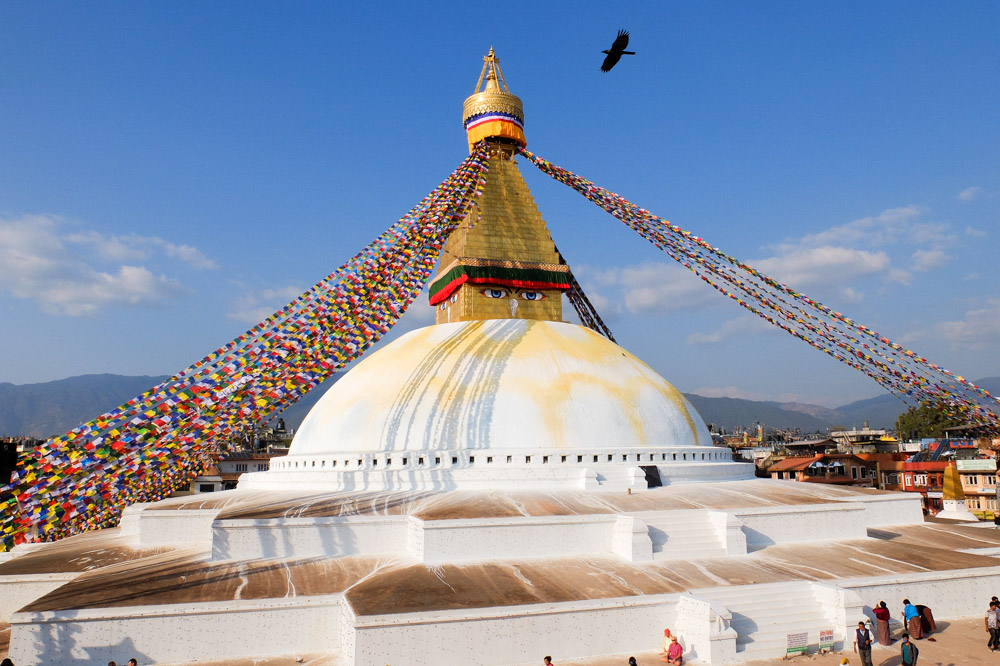 Boudhanath Stupa - Transportation in Nepal