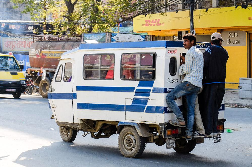 Kathmandu minibus - Transportation in Nepal