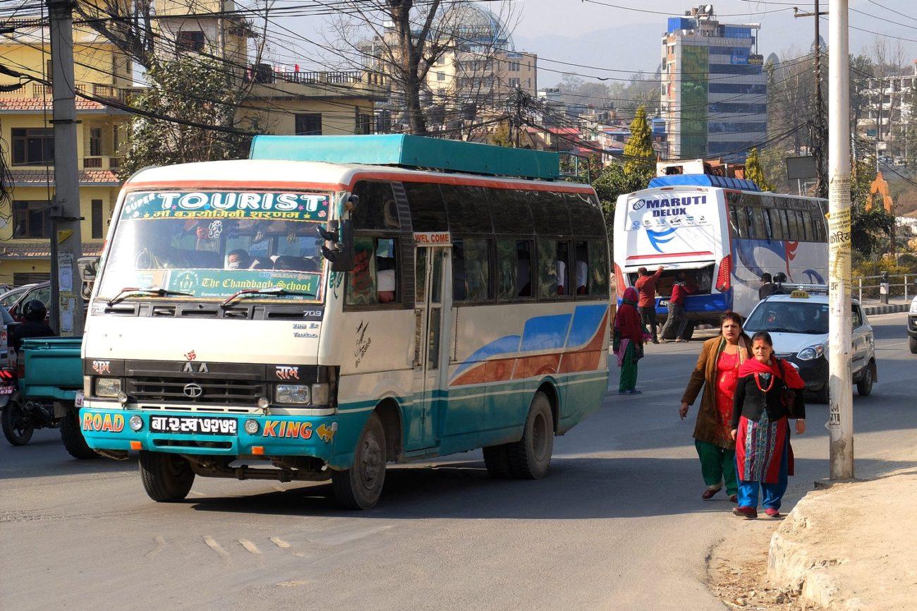Public bus in Kathmandu - Transportation in Nepal