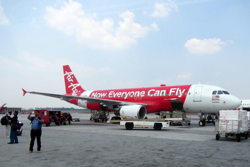 Plane of Air Asia in Kuala Lumpur