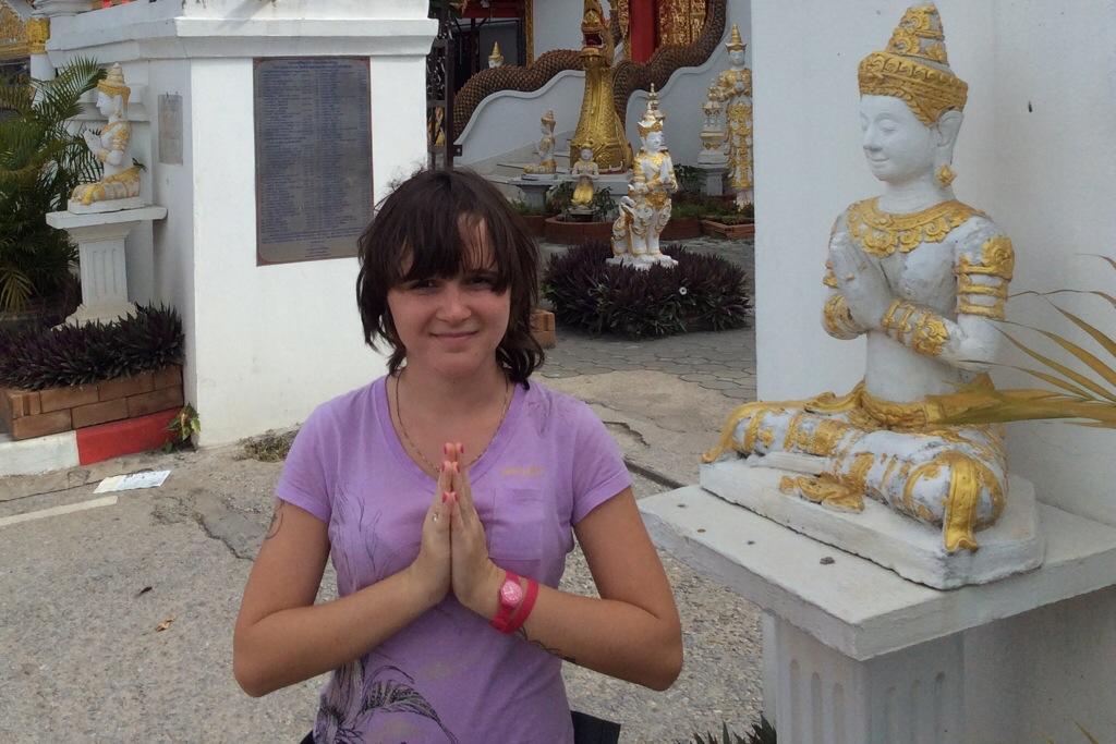 Una in buddhist temple, in Chiang Mai, Thailand