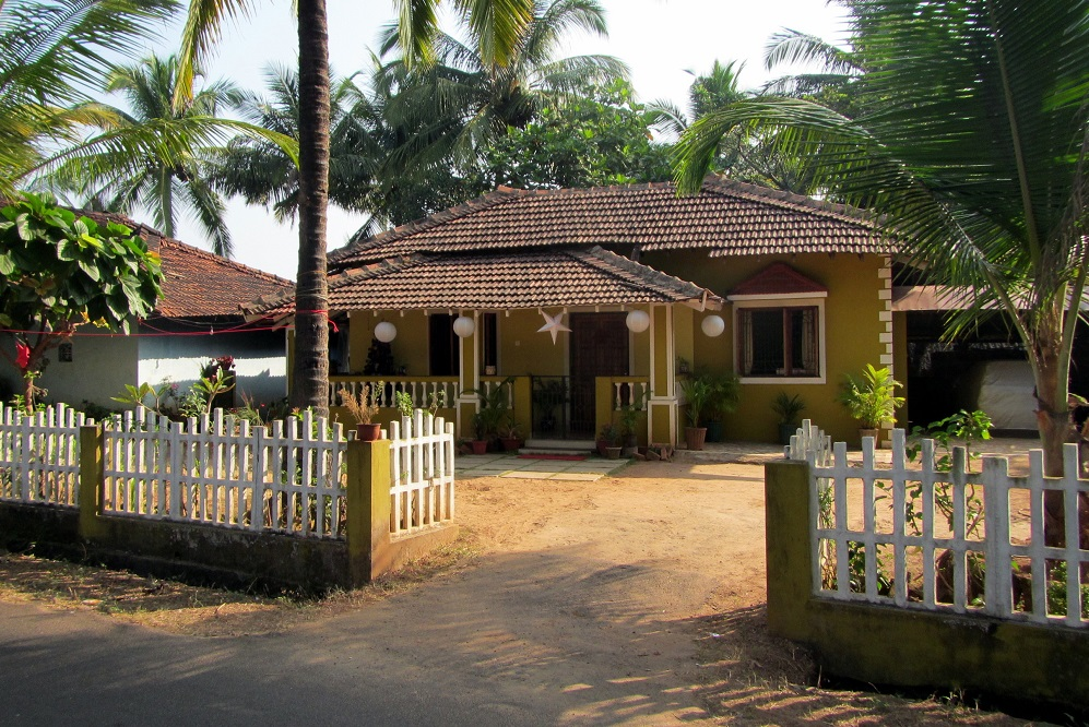 A yellow house in Goa, India