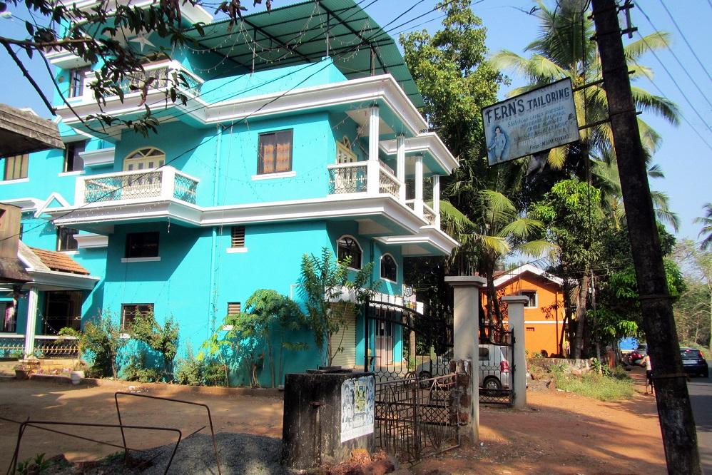 A blue house in Goa, India