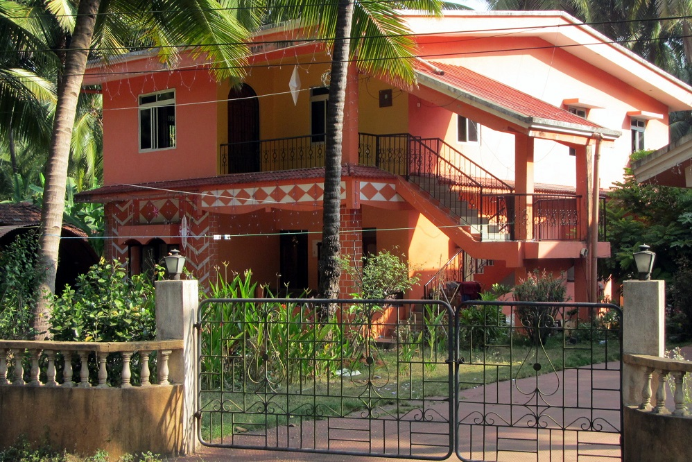A red house in Goa, India