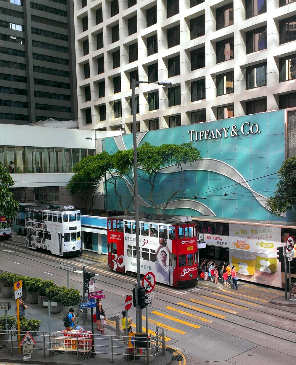 Two story trams in Hong Kong - Public Transport System in Hong Kong