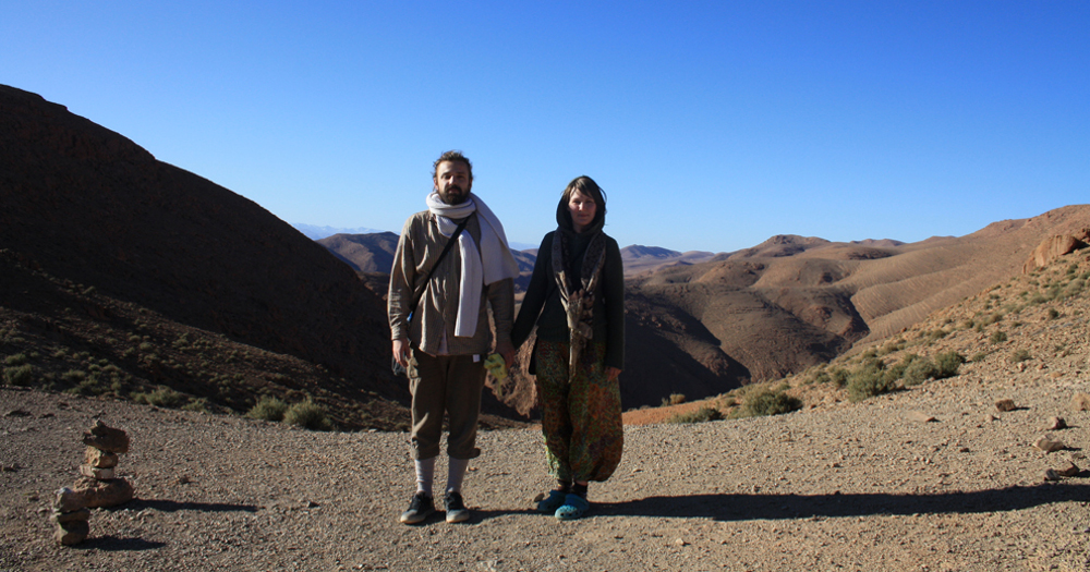 Harijs and Karina - travelers from Latvia - in the mountains