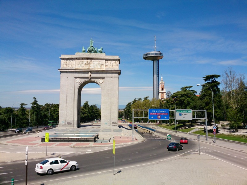 An arc in Madrid, Spain