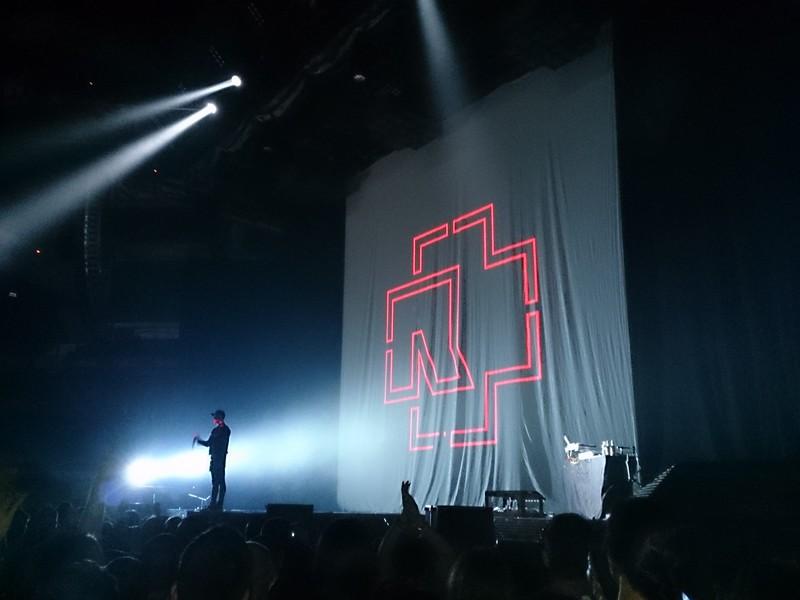 Rammstein Madrid concert stage - 2013