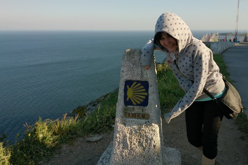 Una in Finisterre, Spain - finish of Camino de Santiago