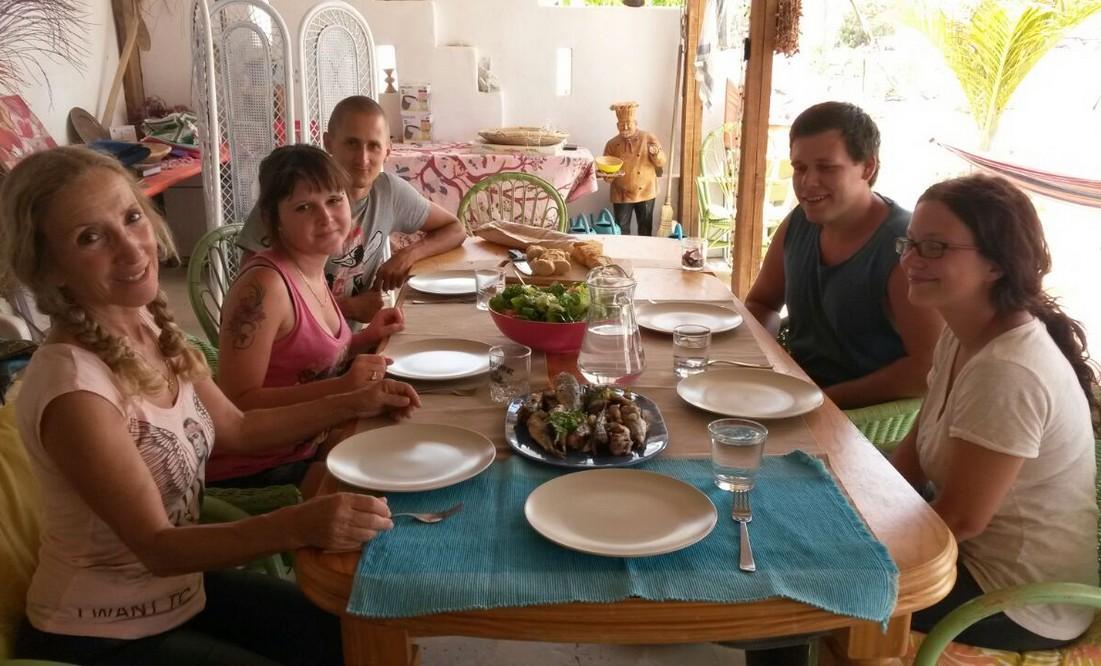 lunch - volunteering Fuerteventura