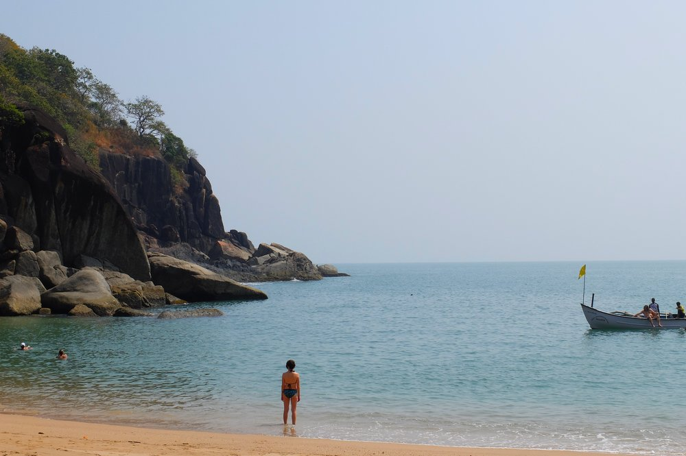 Butterfly beach in Goa, India - traveling to Goa
