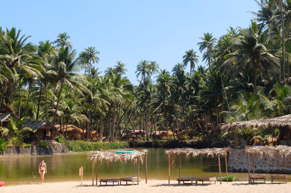 Cola beach Goa India - fresh water pond - Best Beaches in Goa
