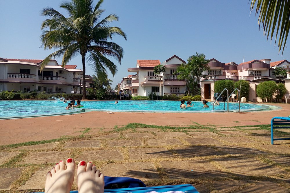 Our pool in Goa, India