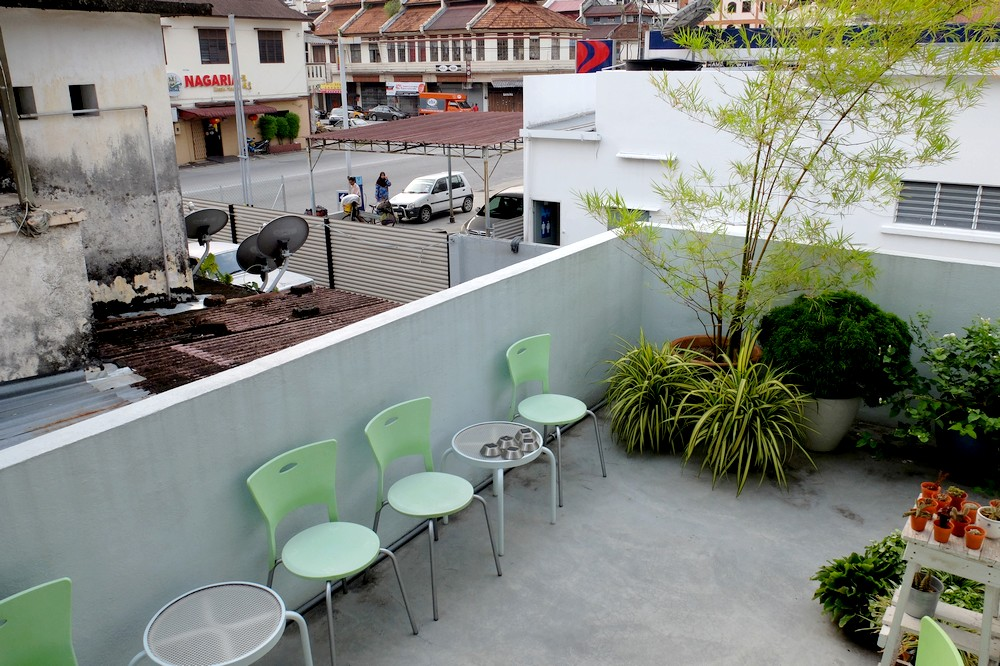 Terrace in Sojourn Beds and Cafe