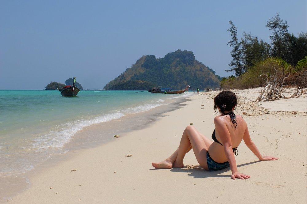 Una on a beach in Thailand - 4 island tour in Krabi Thailand