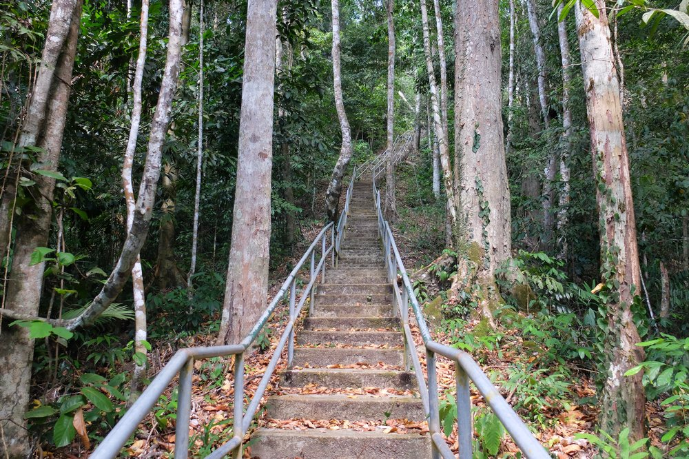 Stairway from the foot of the hill to the top - Gunung Raya, Langkawi