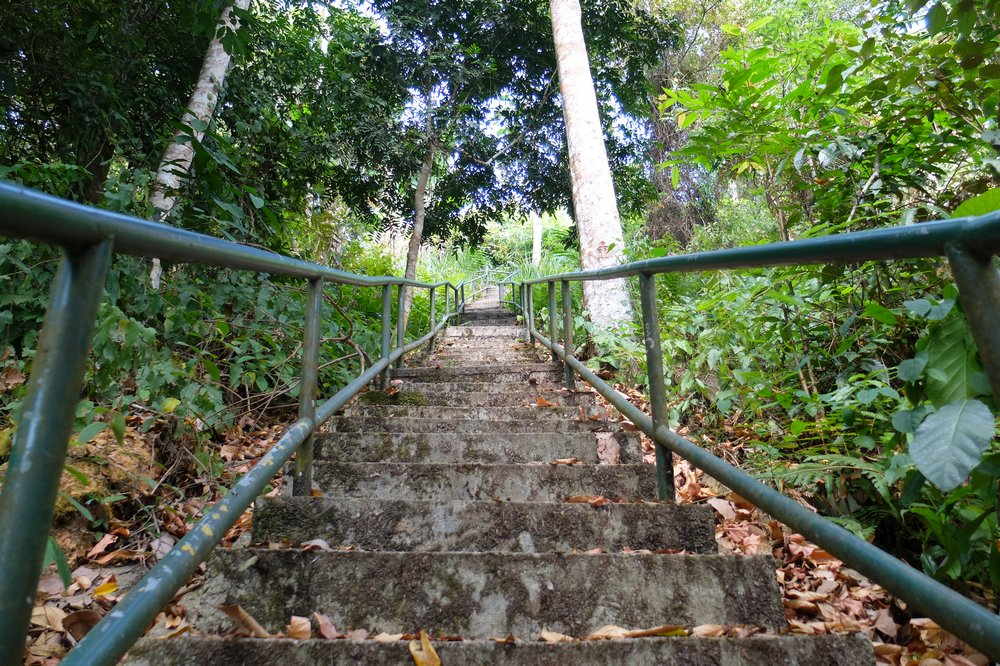 The stairway which goes from the foot of the hill up to the peak of Gunung Raya - Langkawi