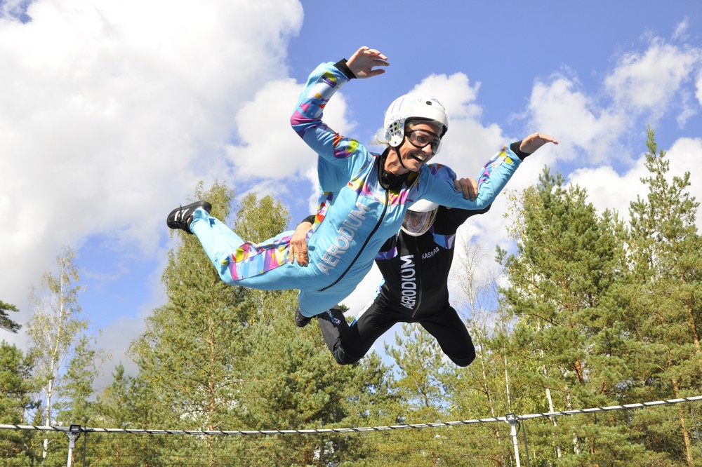 Fly like a Bird in Aerodium, Sigulda, Latvia
