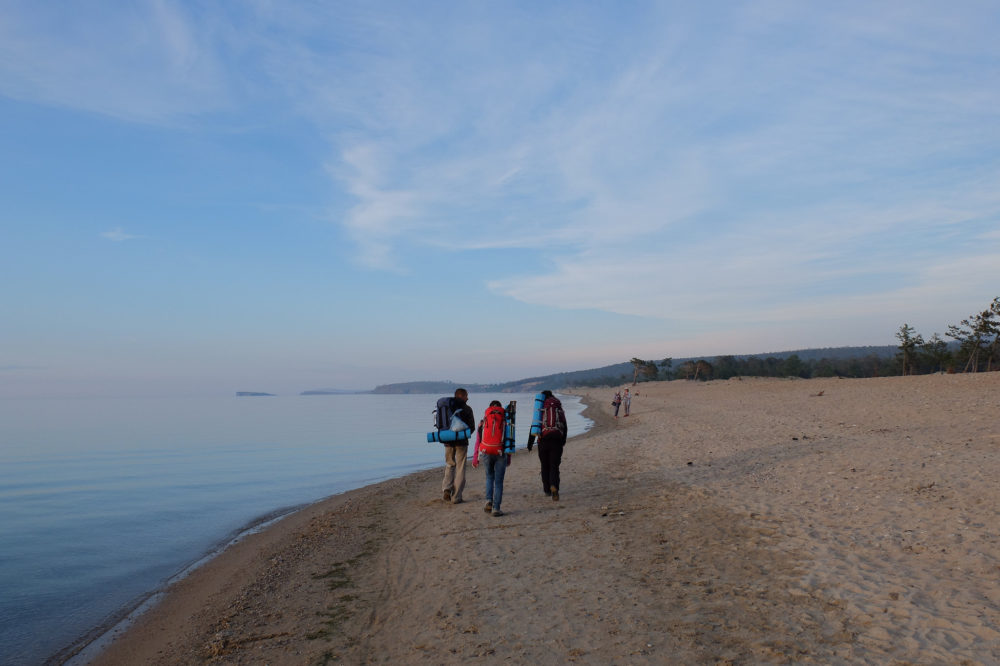 First evening on Olkhon island