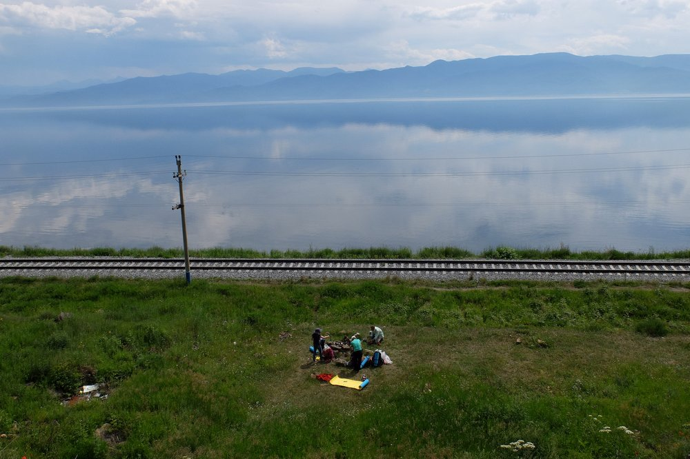 Resting near Circum Baikal Railway