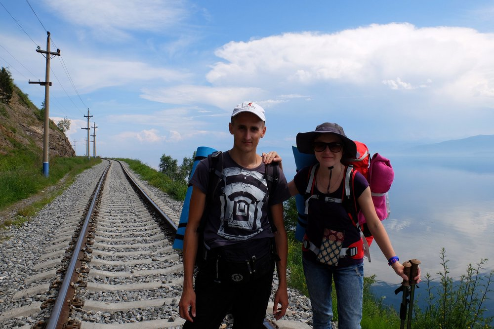 Start of our hike - Circum Baikal Railway