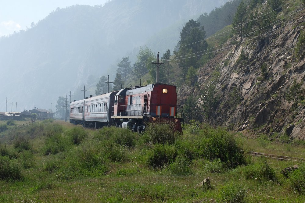 Train on Circum Baikal Railway