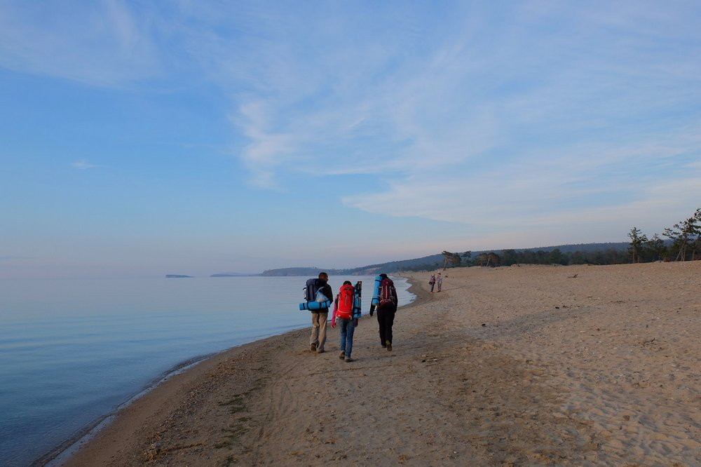 Walking by Lake Baikal